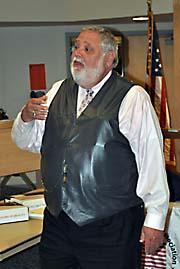 man doing a presentation