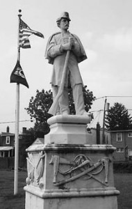 statue of Civil War soldier