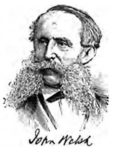 engraving of a man with giant sideburns