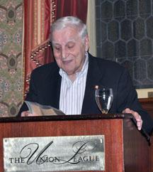 man at a podium