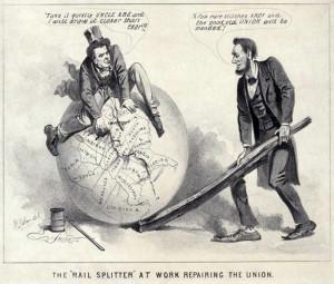 Railsplitter cartoon