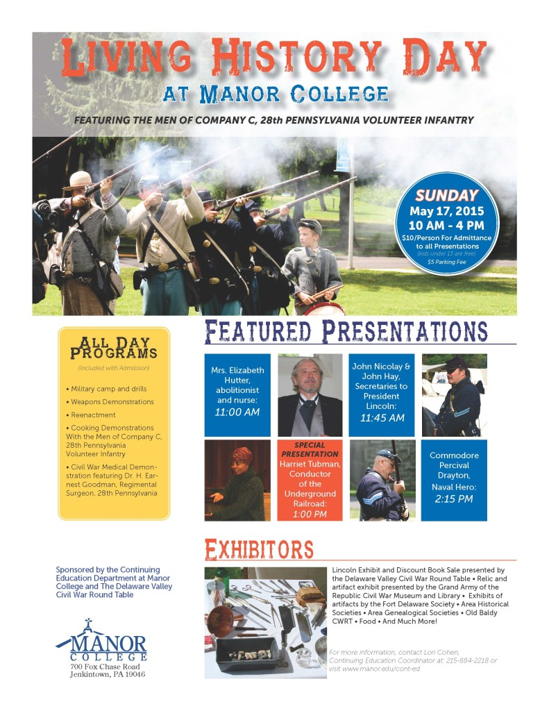 Manor College Civil War Event May 2015